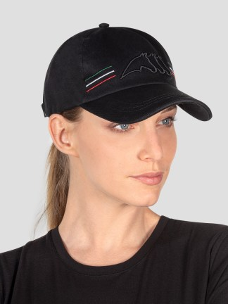 BALL CAP WITH OUTLINE LOGO AND ITALIAN-FLAG LINES
