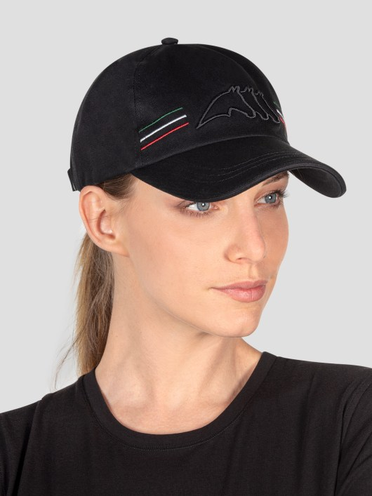 BALL CAP WITH OUTLINE LOGO AND ITALIAN-FLAG LINES 1