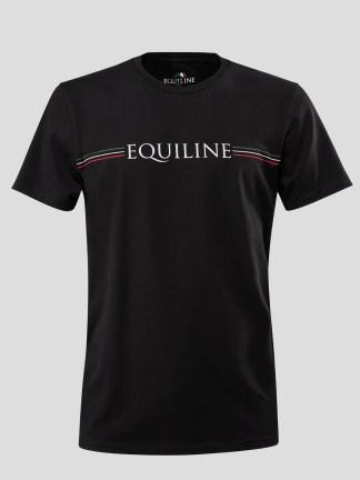 MEN'S T-SHIRT WITH EQUILINE STRIPE LOGO