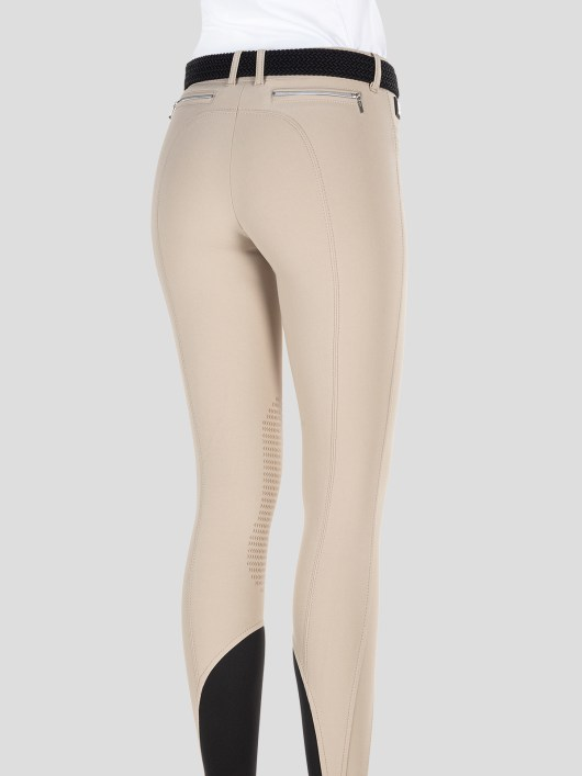 TEAM COLLECTION - WOMEN'S KNEE GRIP BREECHES WITH ITALIAN STRIPE LOGO 4