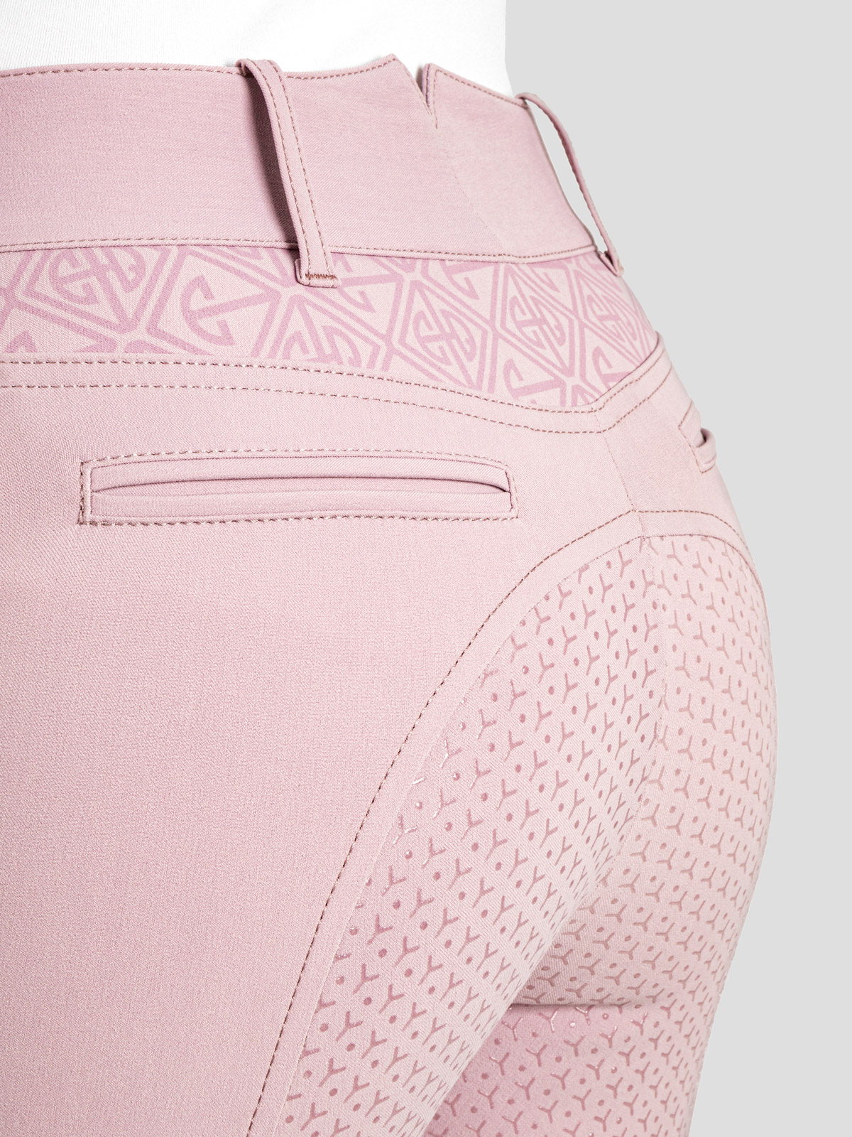 ESASHI WOMEN'S FULL SEAT GRIP BREECHES WITH LOGO PATTERN 5