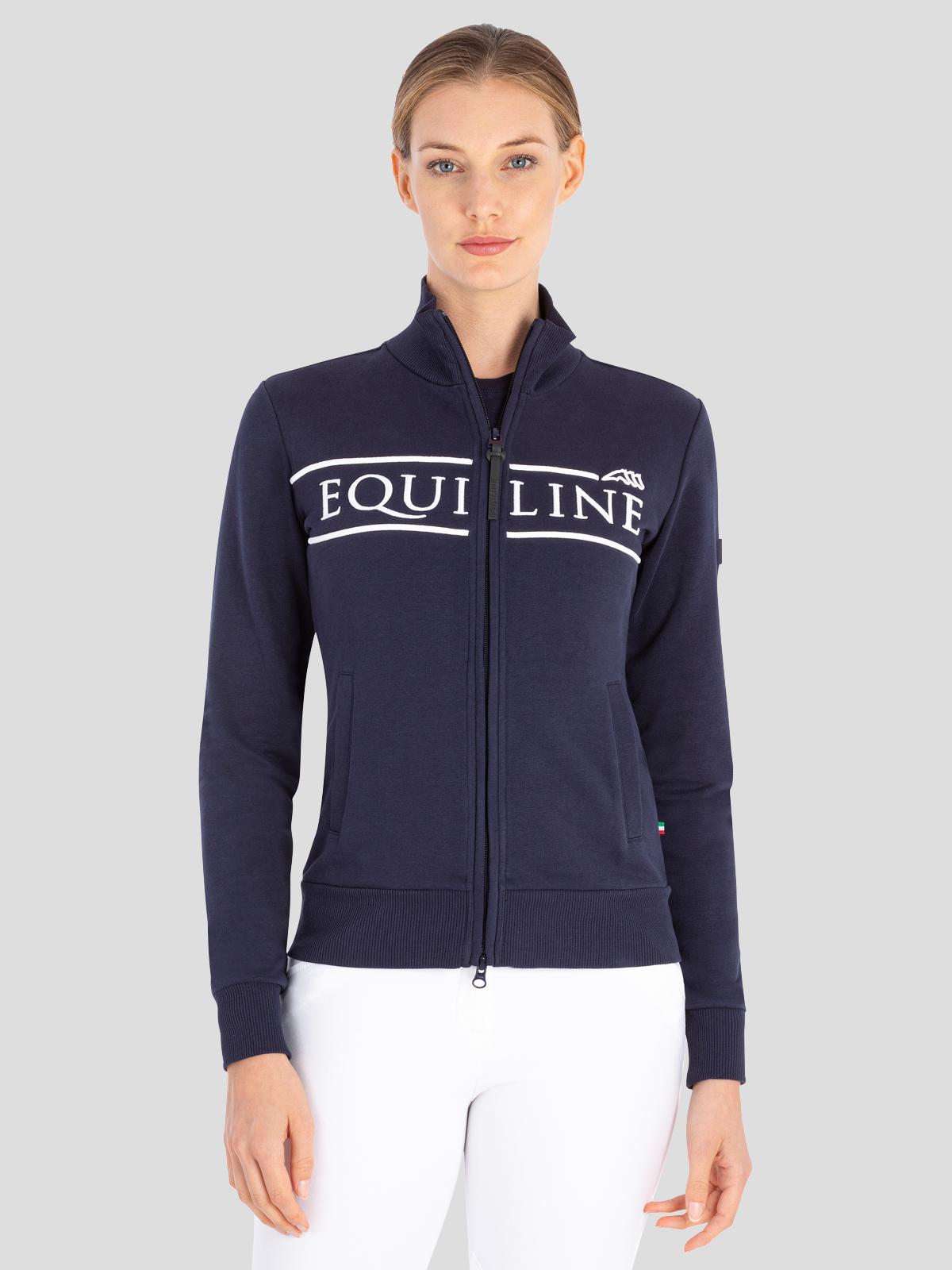CedoraC Women's Sweatshirt with Full Zip in Blue 1