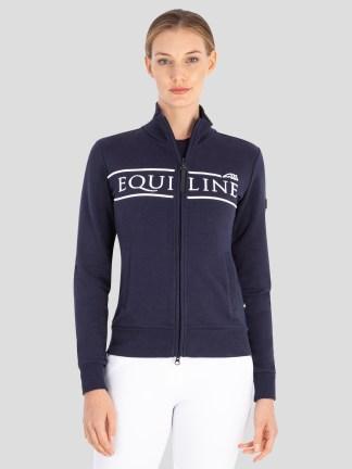 CedoraC Women's Sweatshirt with Full Zip in Blue