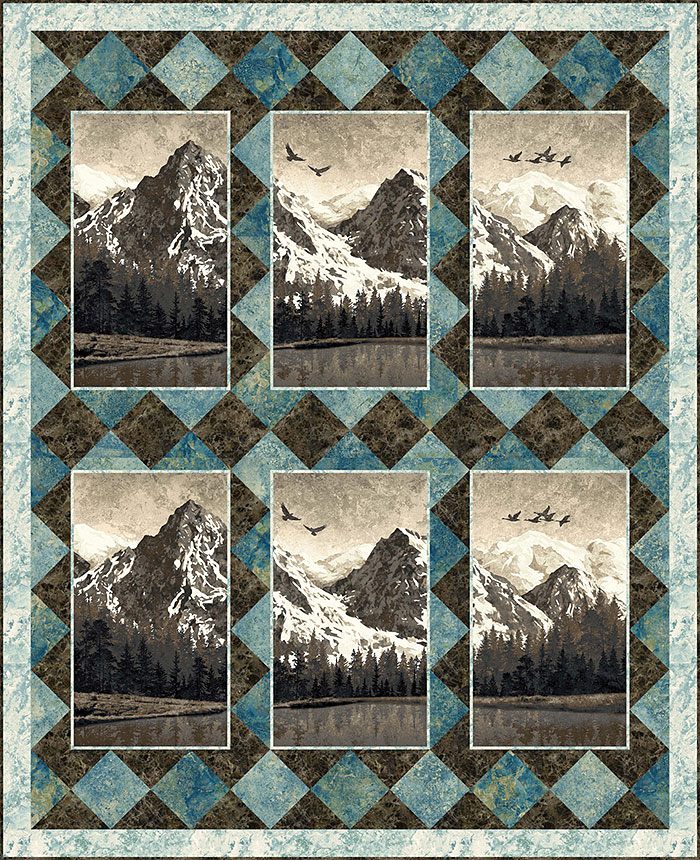 Mountain Quilt : mountain, quilt, EQuilter, Pattern, Mountain, Wilderness, BlogeQuilter