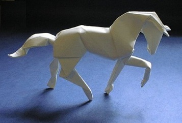 origami horse designed by David Brill
