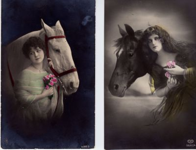 Victorian women with flowers