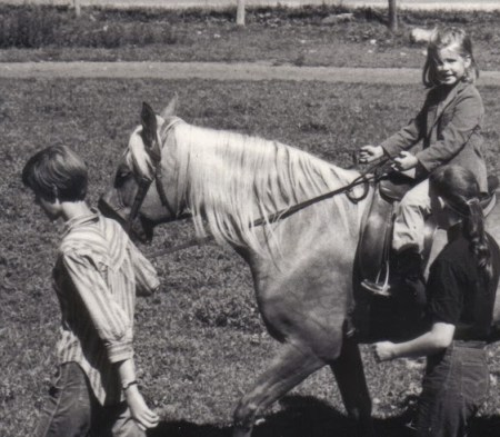 Me, riding -- about 5 years old