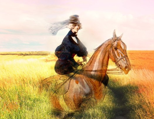 Sidesaddle through the tall grass