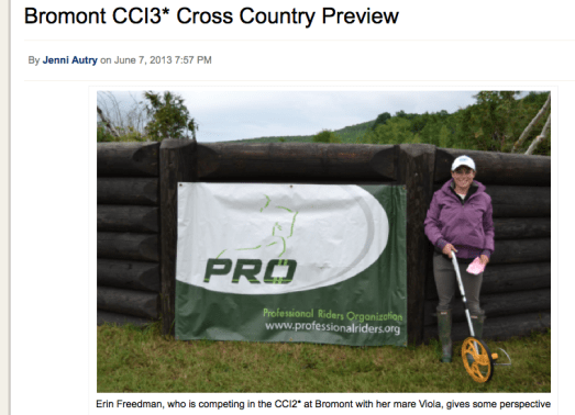 Bromont CCI3* cross country