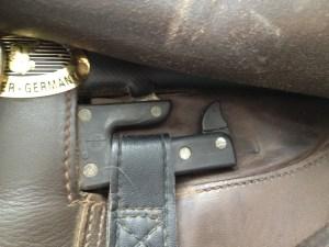 stirrup safety latch up.