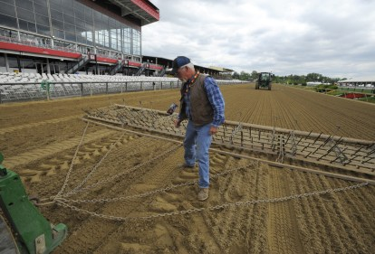 Managing the Pimlico track surface