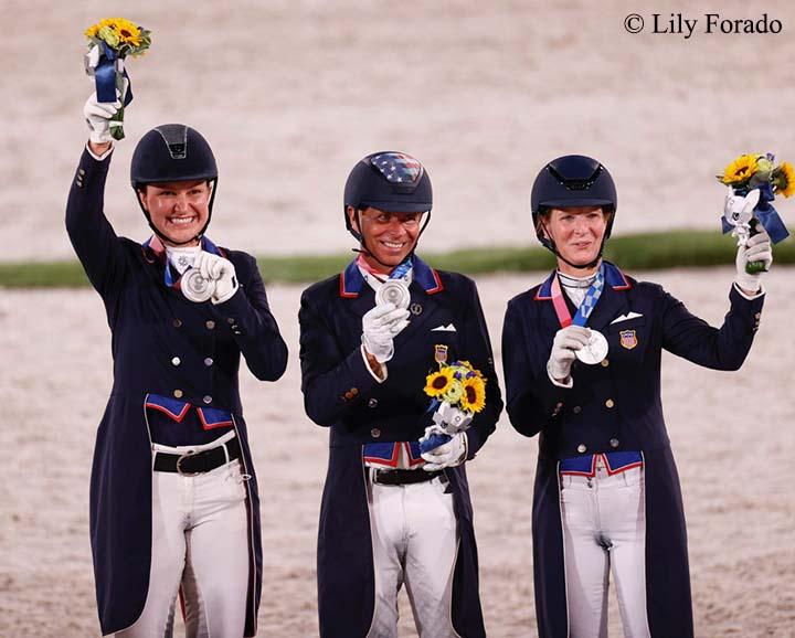 US Dressage Team Wins Silver