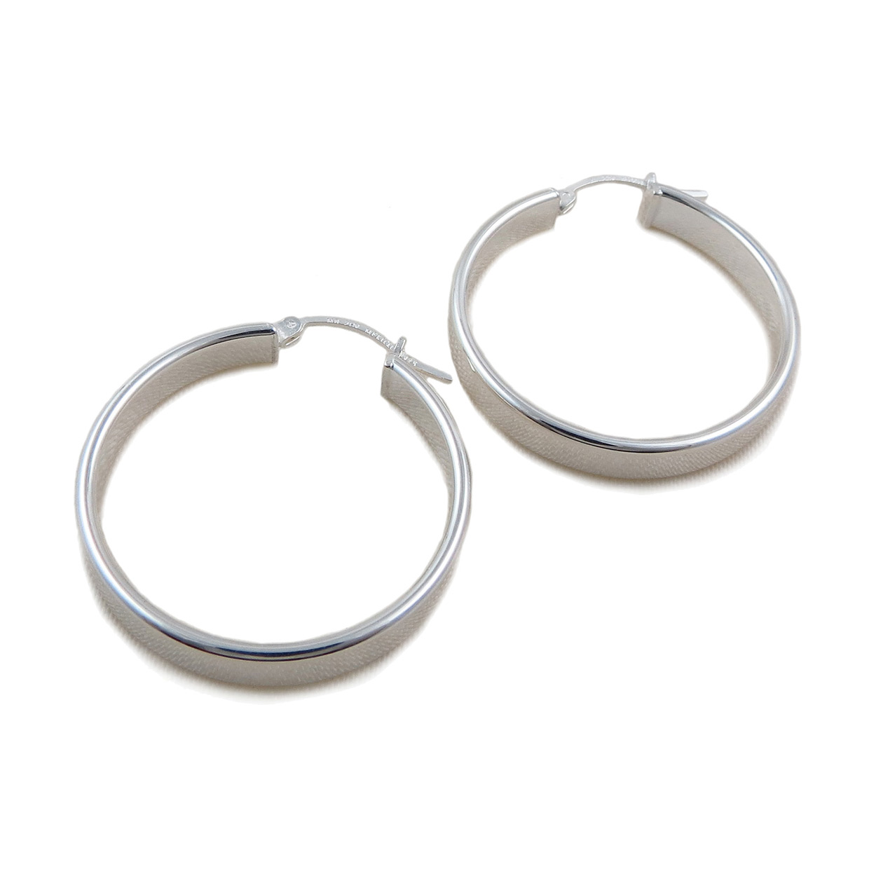 Large Creole Hoops 925 Sterling Silver Hoop Earrings