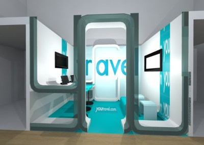 YOU TRAVEL exhibition booth