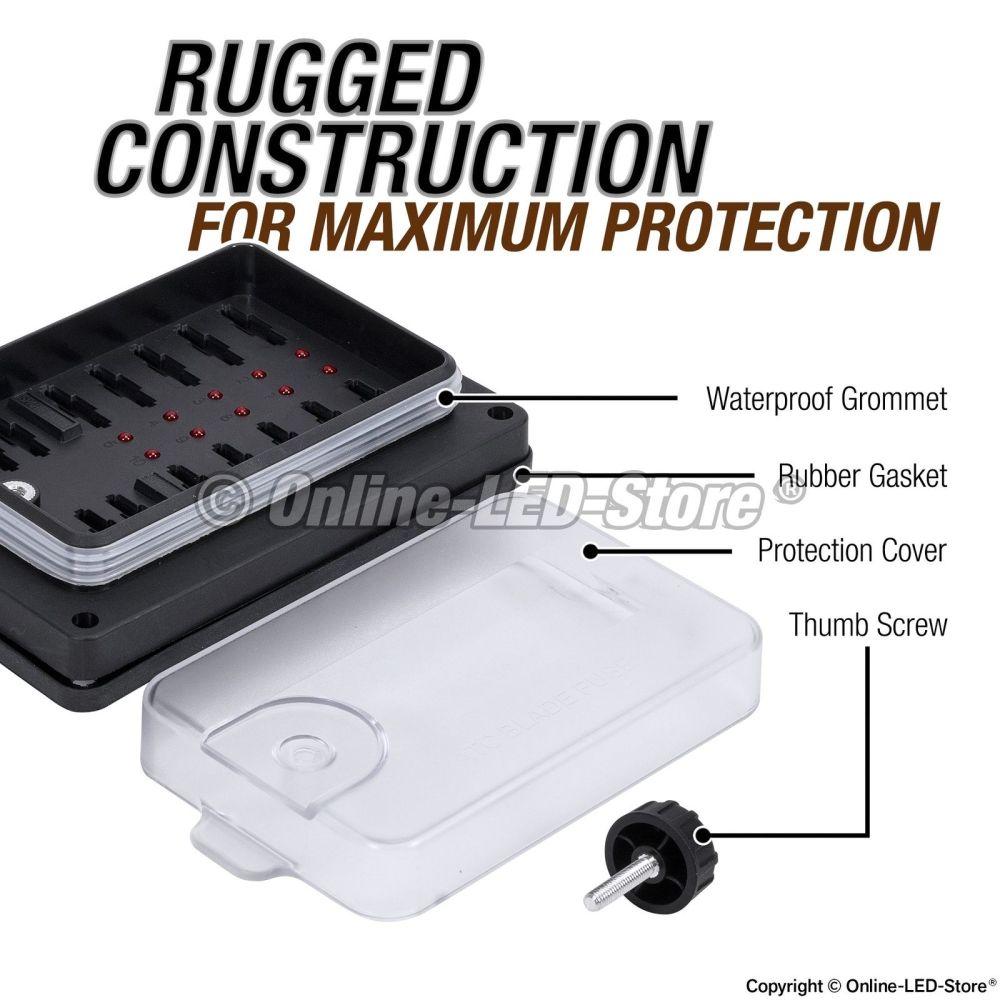 medium resolution of waterproof blade fuse box 10 way marine boat electrical distribution accessory