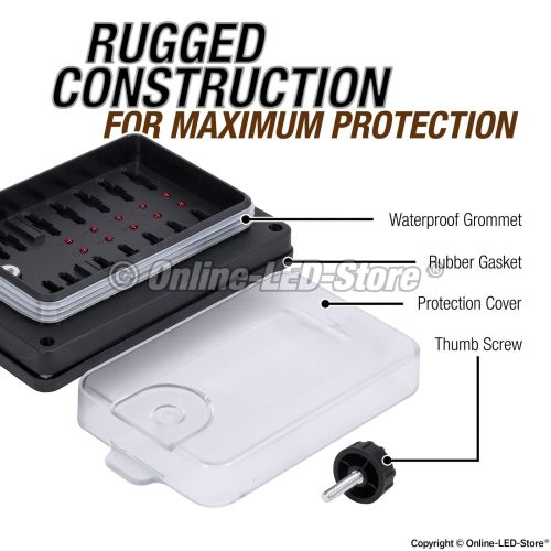 small resolution of waterproof blade fuse box 10 way marine boat electrical distribution accessory