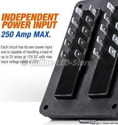 waterproof blade fuse box 10 way marine boat electrical distribution accessory [ 1600 x 1600 Pixel ]
