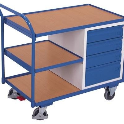 Etabli mobile 3 plateaux 4 tiroirs