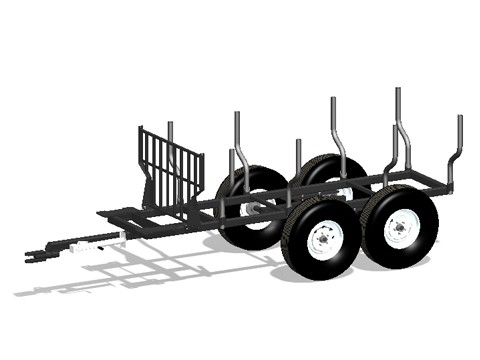 9-58 Woody Forestry Trailer for 105 HD Log Loader