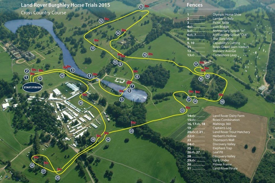 burghley cross country course