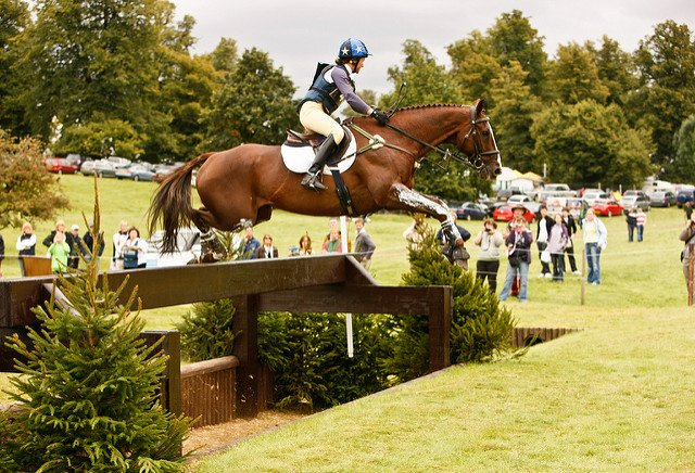jumping big cross country fence