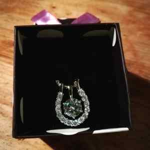 sterling silver horseshoe necklace in box
