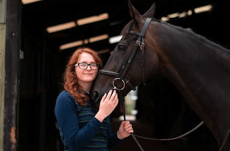 Chloe and her horse for a balancing act guest blog