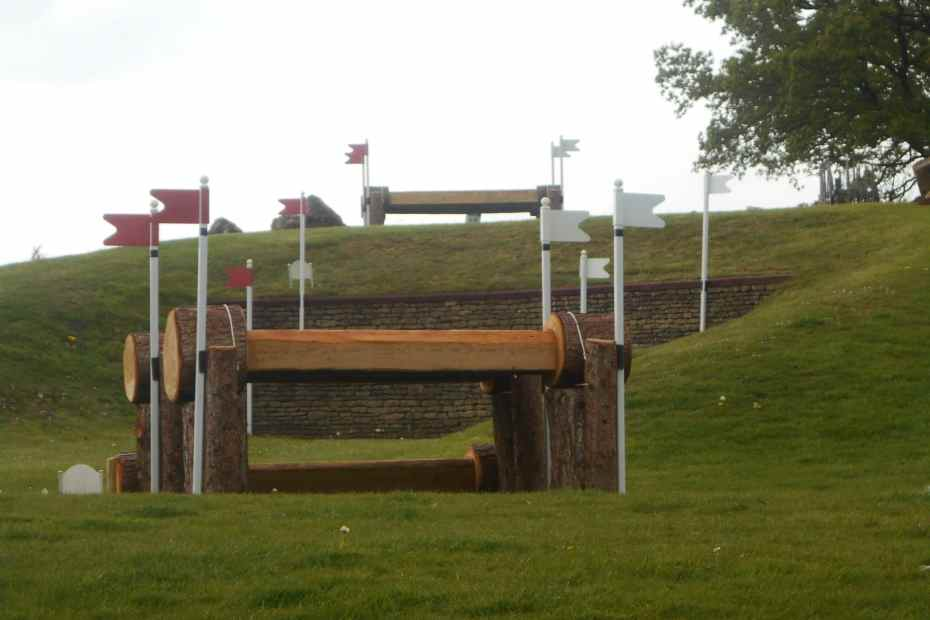 cross country course at badminton, the savills staircase