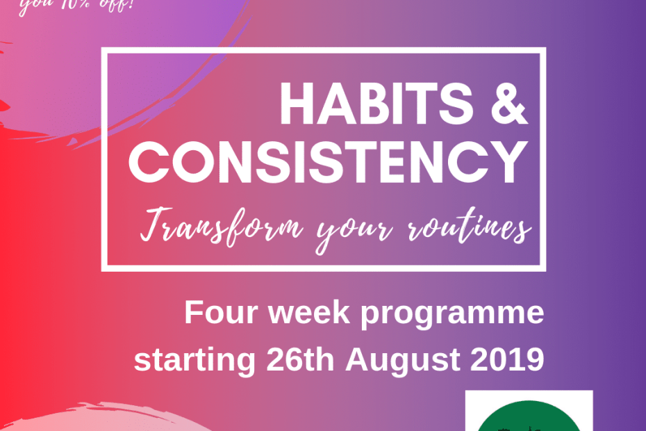 habits and consistency course