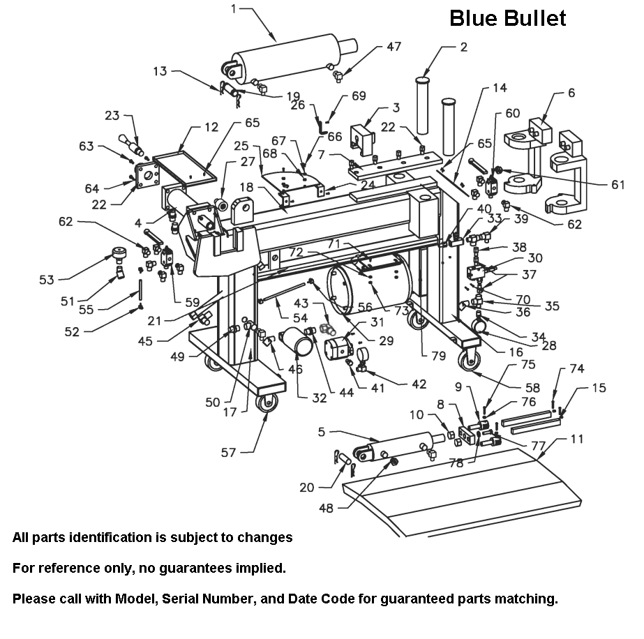 Parts Diagram for Bend Pak Blue Bullet