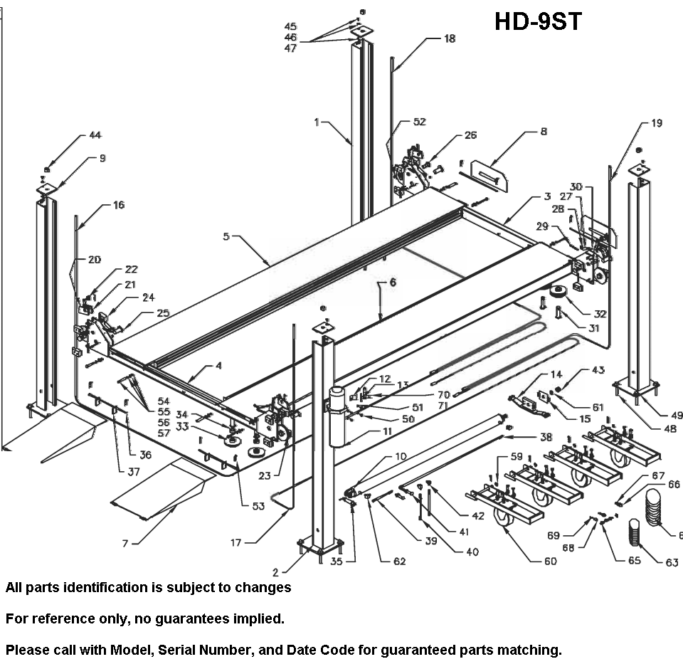 Parts Diagram for Bend Pak HD-9ST