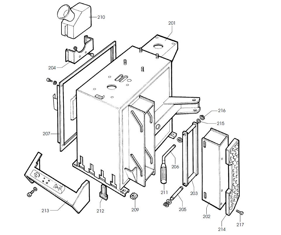 Parts Diagram for Corghi A9820TI