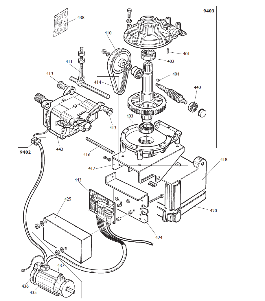 Parts Diagram for Corghi A9824TI