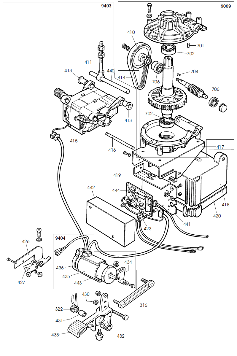 Parts Diagram for Corghi A2024TI
