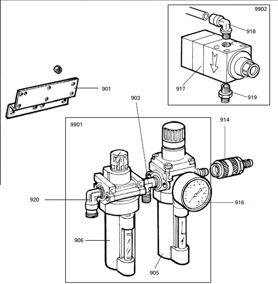 Parts Diagram for Corghi A2001S