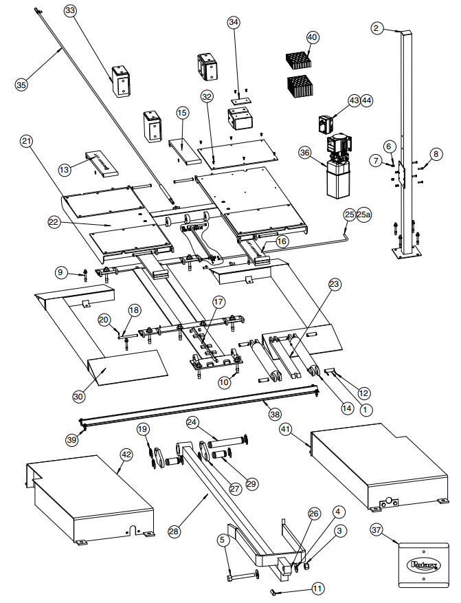 Rotary Parts Diagram for VLXS10