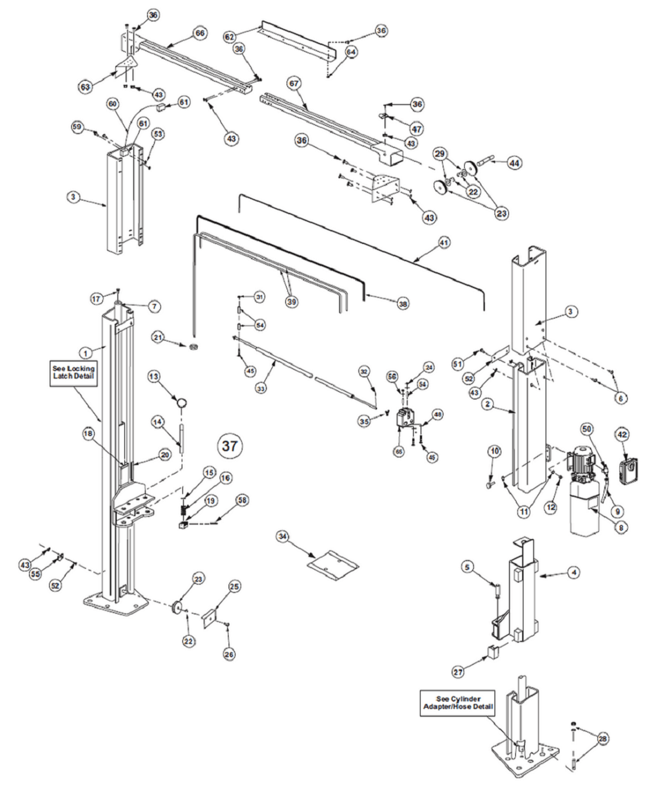 Rotary Lift Parts Diagram Pictures to Pin on Pinterest