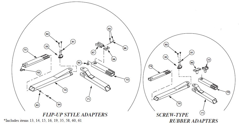 Rotary SPOA9RA Parts Diagram