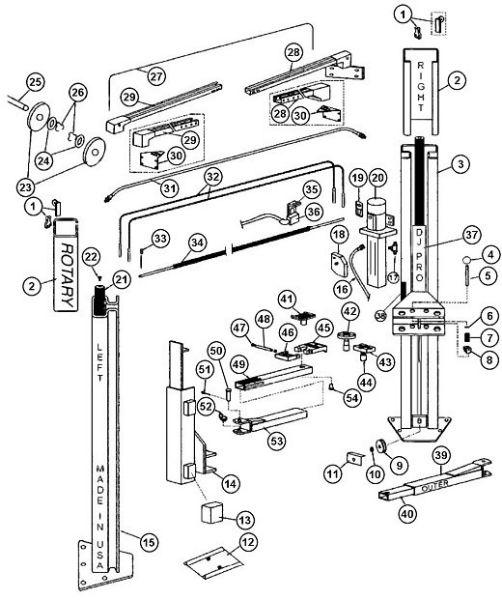 Parts Breakdown for Rotary model SPOA9 (SVI International