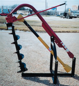 """3-Pt Compact Hole Digger 33"""" Depth for13-25 PTO HP Tractor AGM ED32"""