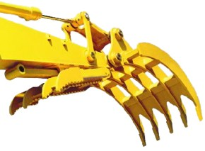 Excavator Rake for Machines 41,000 to 59,000 lbs. - SLS-SGR-3