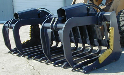 Optional Grapples for Severe Service Scoop Rakes