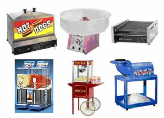carnival food preparations stands
