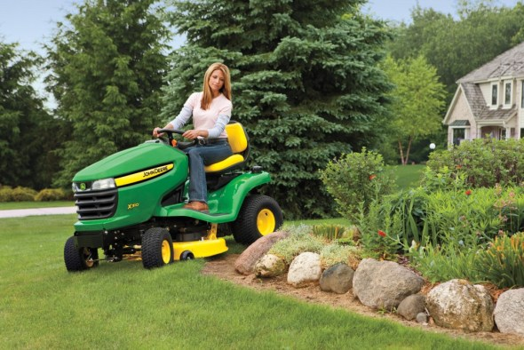 riding lawn equipment photo