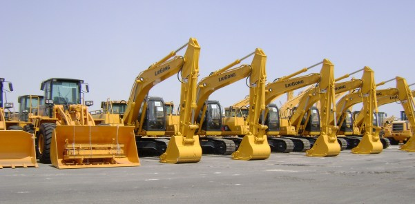 variety of heavy equipment machines for rent