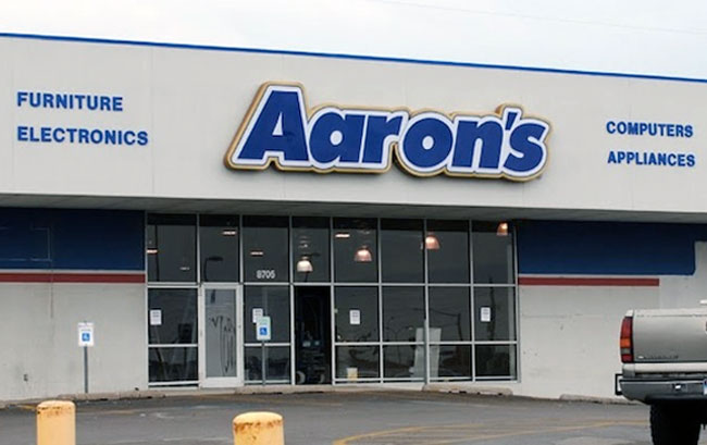 """aarons rental rentals services furniture electronics appliances llease to own"""