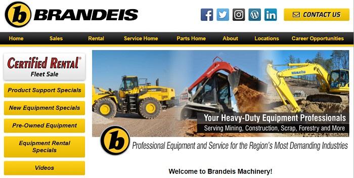 construction equipment rental indiana brandeis