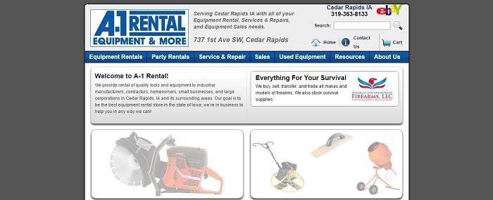 construction equipment rental iowa A-1 Rental Equipment