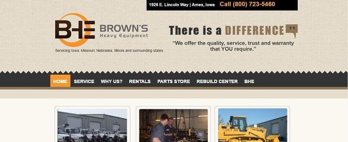 construction equipment rental iowa Brown's Heavy Equipment