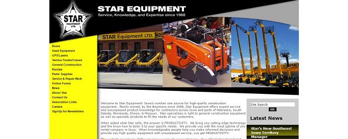 construction equipment rental iowa Star Equipment